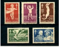 1947 - LOTTO/24171 - FINLANDIA - PRO INFANZIA 5v. - LING.