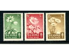 1949 - LOTTO/24174 - FINLANDIA - PRO TUBERCOLOTICI 3v. - LING.