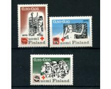 1970 - LOTTO/24189 - FINLANDIA - PRO CROCE ROSSA 3v. - NUOVI