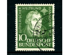 1952 - LOTTO/24234 - GERMANIA FEDERALE - CONGRESSO LUTERANO - USATO