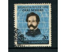 1952 - LOTTO/24237 - GERMANIA FEDERALE - CARL SCHURZ - USATO