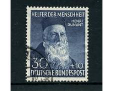 1952 - LOTTO/24238 - GERMANIA FEDERALE - BENEFICENZA H. DUNANT - USATO