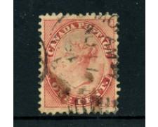 1859 - LOTTO/24250 - CANADA - 1 CENT. ROSA  REGINA VITTORIA - USATO