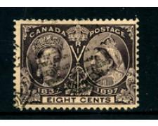 1897 - LOTTO/24251 - CANADA - 8 CENT. 60° ANNIVERSARIO DEL REGNO - USATO