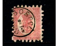1866 - LOTTO/24265 - FINLANDIA - 40p. ROSA STEMMA  - USATO