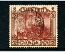 1922 - LOTTO/24267 - SARRE - 5 FR. VEDUTE - USATO