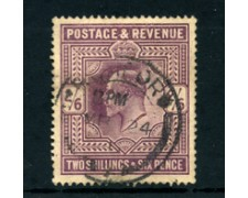 1902 - LOTTO/24276 - GRAN BRETAGNA - 2/6 VIOLETTO RE EDOARDO VII° - USATO