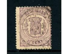 1869/71 - LOTTO/24279 - OLANDA - 2,5 VIOLETTO STEMMA - USATO