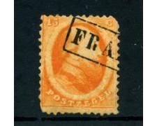 1864 - LOTTO/24282 - OLANDA - 15 c. ARANCIO RE GUGLIELMO III - USATO