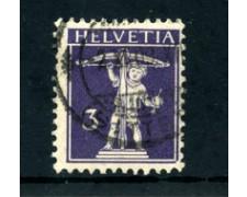 1909 - LOTTO/24286 - SVIZZERA - 3c. VIOLETTO SCURO WALTER TELL - USATO