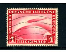 1928/31 - LOTTO/24287 - GERMANIA REICH - 1m. ROSSO  ZEPPELIN POSTA AEREA - USATO