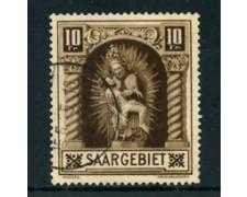 1925 - LOTTO/24291 - SARRE - 10 Fr. MADONNA DI BLIESKASTEL - USATO