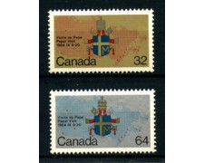 1984 - LOTTO/24358F - CANADA - VISITA DI PAPA GIOVANNI PAOLO II° 2v. - NUOVI