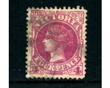 1884/1886 - LOTTO/24361 - VICTORIA - 4p. VIOLETTO VINACEO - USATO