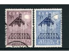1957 - LOTTO/24371 - BELGIO - EUROPA 2v. - USATI