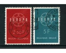 1959 - LOTTO/24378 - BELGIO - EUROPA 2v. - USATI