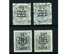 1960 - LOTTO/24379 - BELGIO - SOPRASTAMPATI 4v. - USATI