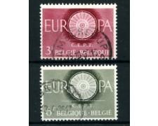 1960 - LOTTO/24381 - BELGIO - EUROPA 2v. - USATI