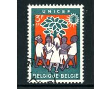 1960 - LOTTO/24383 - BELGIO - 3+1Fr.  UNICEF - USATO