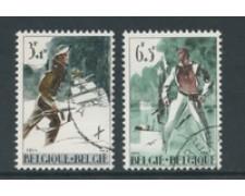 1964 - LOTTO/24392 - BELGIO - RESISTENZA E LIBERAZIONE 2v. - USATI