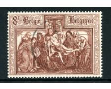 1964 - LOTTO/24394 - BELGIO - SERIE CULTURALE  8Fr. DEPOSIZIONE - USATO