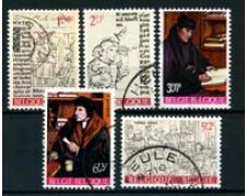 1967 - BELGIO - LOTTO/24421 - ERASMO E LA SUA EPOCA 5v. - USATI