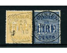 1903 - LOTTO/24427 - REGNO - 50/100 LIRE SEGNATASSE - USATI