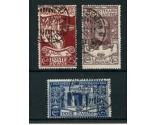 1922 - LOTTO/24428 - REGNO - GIUSEPPE MAZZINI 3v. - USATI