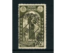 1931 - LOTTO/24431 - REGNO - 5+2,50 LIRE S.ANTONIO - USATO