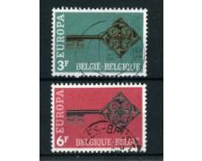 1968 - BELGIO - LOTTO/24441 - EUROPA 2v. - USATI