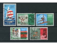 1968 - BELGIO - LOTTO/24442 - OLIMPIADI MESSICO 5v. - USATI