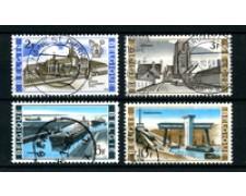 1968 - BELGIO - LOTTO/24444 - EDIFICI 4v. - USATI