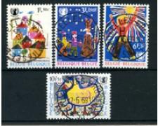 1969 - BELGIO - LOTTO/24449 - U.N.I.C.E.F. 4v. - USATI