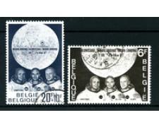 1969 - BELGIO - LOTTO/24452 - UOMO SULLA LUNA 2v. - USATI