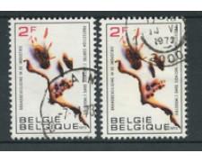 1973 - BELGIO - LOTTO/24463 - PREVENZIONE INCENDI 2v. - USATI