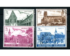 1973 - BELGIO - LOTTO/24464 - ABBAZIE 4v. - USATI