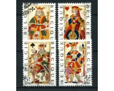 1973 - BELGIO - LOTTO/24466 - CARTE DA GIOCO  4v. - USATI