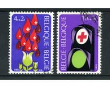 1974 - BELGIO - LOTTO/24468 - CROCE ROSSA 2v. -  USATI