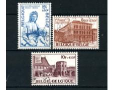 1975 - BELGIO - LOTTO/24478 - SERIE CULTURALE MONUMENTI 3v. USATI