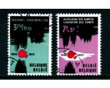 1970 - LOTTO/24503 - BELGIO -  25° DELLA RESISTENZA 2v. - USATI