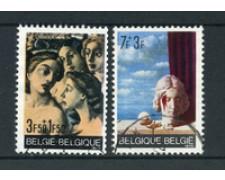 1970 - LOTTO/24507 - BELGIO - SOLIDARIETA' 2v. - USATI