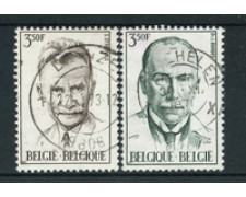 1971 - LOTTO/24509 - BELGIO - UOMINI ILLUSTRI 2v. - USATI