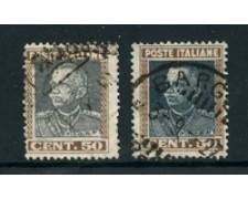 1927 - LOTTO/24529 - REGNO - 50 cent. RE VITTORIO EMANUELE III° - USATO VARIETA COLORE