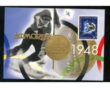 1996 - LOTTO/24535 - SVIZZERA - OLIMPIADI DI NAGANO - CARTOLINA POSTALE