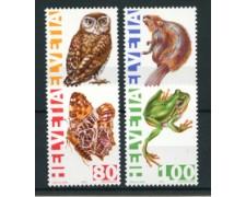 1995 - LOTTO/24545 - SVIZZERA - ANIMALI IN ESTINZIONE 4v. - NUOVI