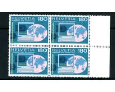 1995 - LOTTO/24547 - SVIZZERA - SERVIZIO  U.P.U. - QUARTINA NUOVA