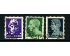 1929 - LOTTO/24654 - REGNO - 10/20/25 Lire  IMPERIALE 3v. - USATI