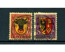 1918 - LOTTO/24584 - SVIZZERA - PRO JUVENTUTE 2v. - USATI