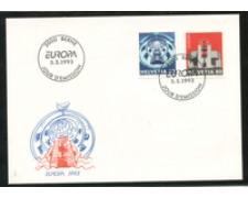 1993 - LOTTO/24585 - SVIZZERA - EUROPA 2v. - BUSTA FDC