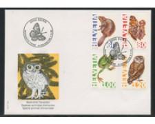 1995 - LOTTO/24589 - SVIZZERA - SPECIE DI ANIMALI IN ESTINZIONE 4v. - BUSTA FDC